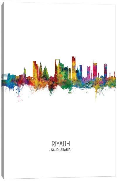 Riyadh Saudi Arabia Skyline Portrait Canvas Art Print