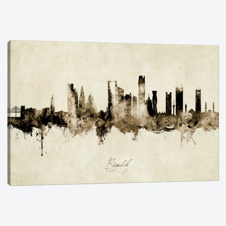 Riyadh Saudi Arabia Skyline Vintage Canvas Print #MTO2837} by Michael Tompsett Canvas Art