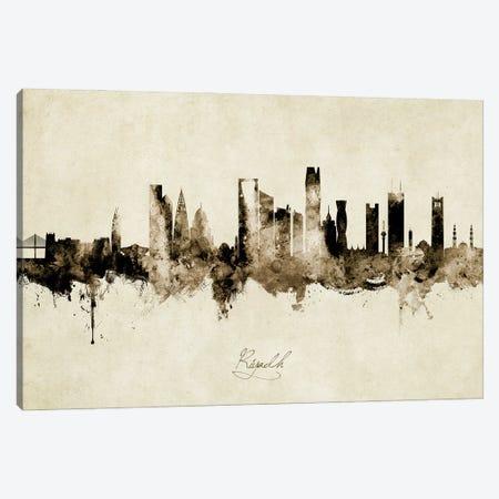 Riyadh Saudi Arabia Skyline Vintage Canvas Print #MTO2837} by Michael Tompsett Canvas Art