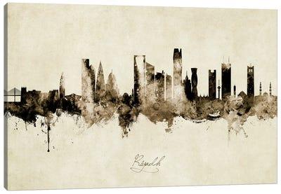 Riyadh Saudi Arabia Skyline Vintage Canvas Art Print