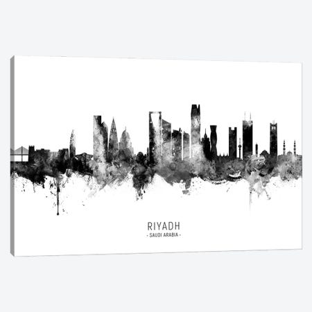 Riyadh Saudi Arabia Skyline Name BW Canvas Print #MTO2838} by Michael Tompsett Art Print