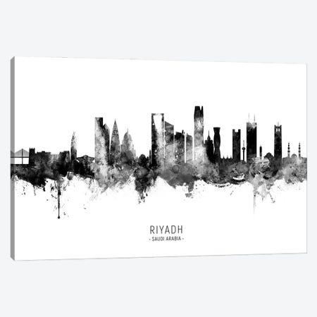 Riyadh Saudi Arabia Skyline Name BW Canvas Print #MTO2838} by Michael Tompsett Art Print