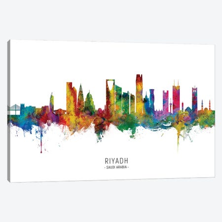 Riyadh Saudi Arabia Skyline City Name Canvas Print #MTO2839} by Michael Tompsett Canvas Print