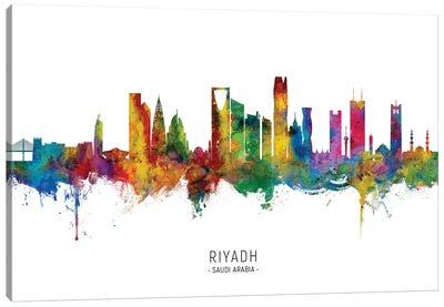 Riyadh Saudi Arabia Skyline City Name Canvas Art Print