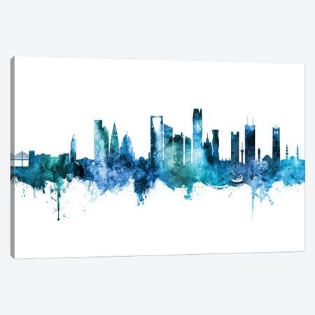 Riyadh Saudi Arabia Skyline Blue Teal Canvas Print #MTO2840} by Michael Tompsett Canvas Wall Art