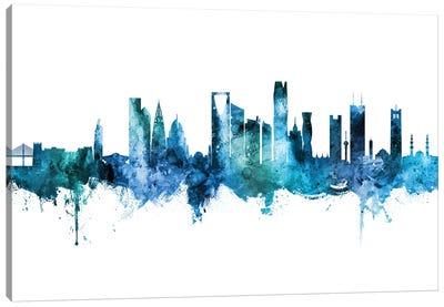 Riyadh Saudi Arabia Skyline Blue Teal Canvas Art Print