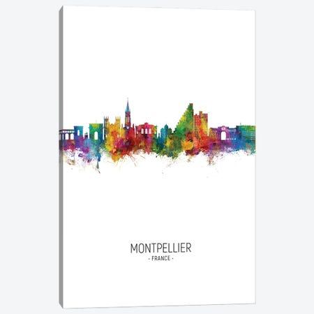 Montpellier France Skyline Portrait Canvas Print #MTO2841} by Michael Tompsett Canvas Art