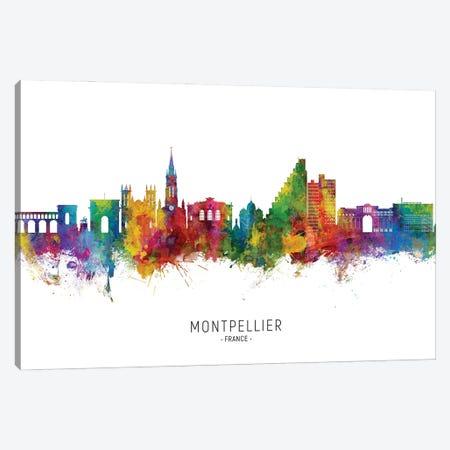 Montpellier France Skyline City Name Canvas Print #MTO2843} by Michael Tompsett Canvas Art