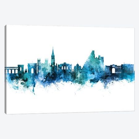 Montpellier France Skyline Blue Teal Canvas Print #MTO2844} by Michael Tompsett Canvas Print