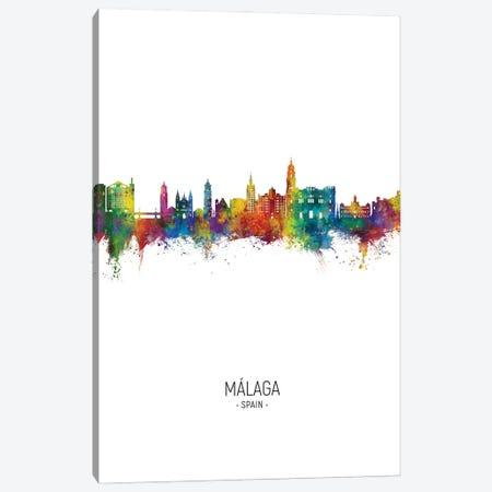 Malaga Spain Skyline Portrait Canvas Print #MTO2846} by Michael Tompsett Canvas Art Print