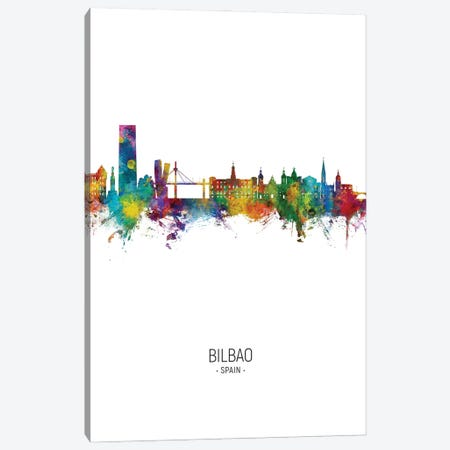 Bilbao Spain Skyline Portrait Canvas Print #MTO2851} by Michael Tompsett Canvas Art Print