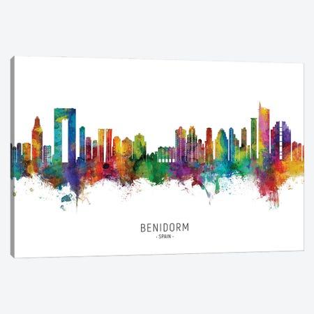 Benidorm Spain Skyline City Name Canvas Print #MTO2859} by Michael Tompsett Canvas Print