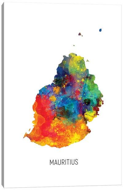 Mauritius Map Canvas Art Print