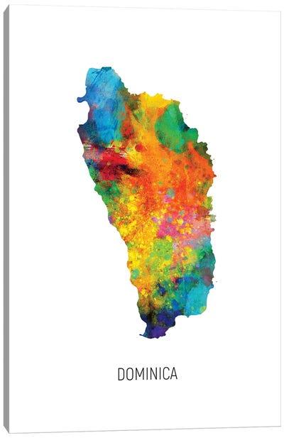 Dominica Map Canvas Art Print