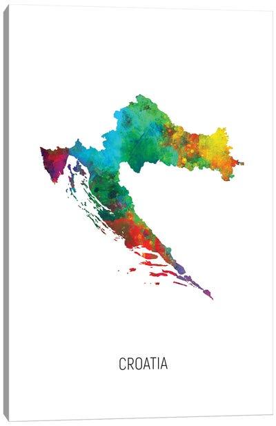 Croatia Map Canvas Art Print