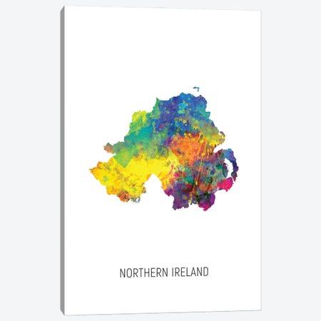 Northern Ireland Map Canvas Print #MTO2868} by Michael Tompsett Canvas Art