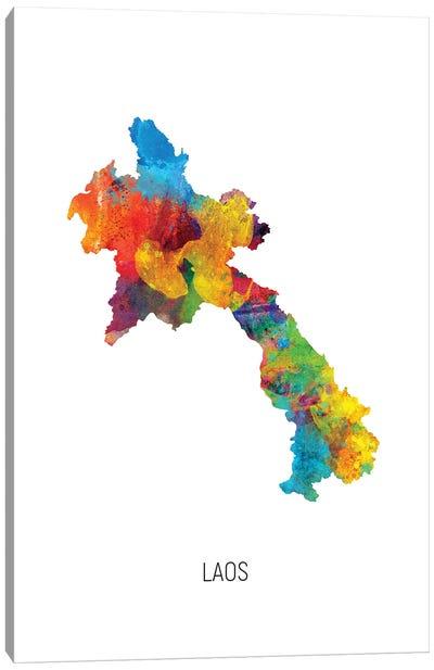 Laos Map Canvas Art Print