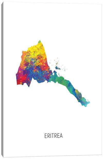 Eritrea Map Canvas Art Print
