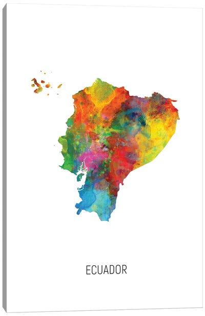 Ecuador Map Canvas Art Print