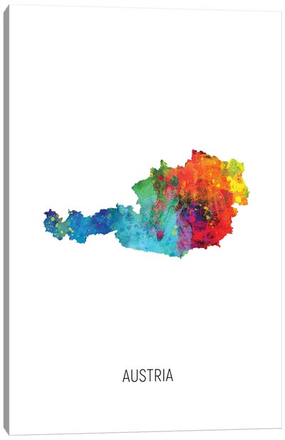 Austria Map Canvas Art Print