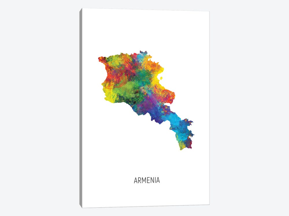 Armenia Map 1-piece Canvas Art