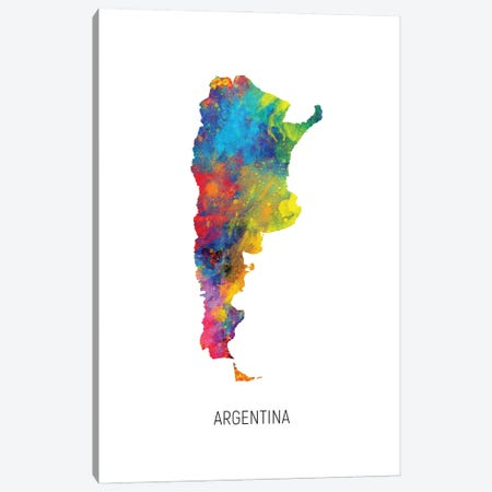 Argentina Map 3-Piece Canvas #MTO2885} by Michael Tompsett Canvas Art Print