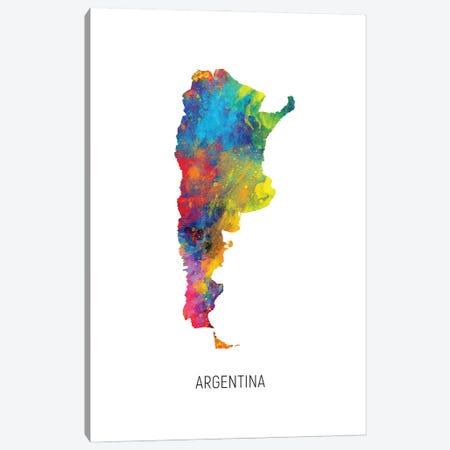 Argentina Map Canvas Print #MTO2885} by Michael Tompsett Canvas Art Print
