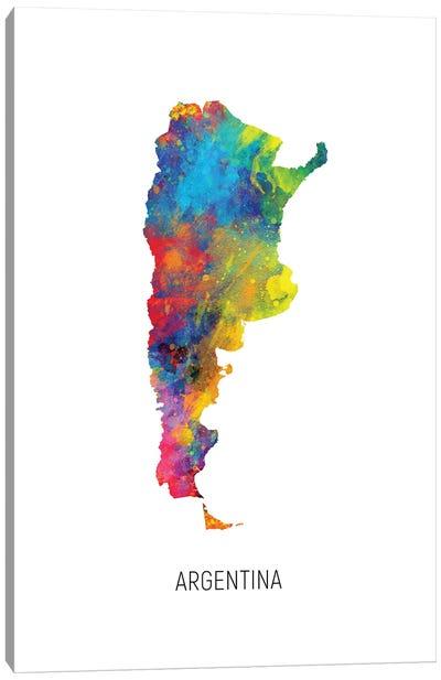 Argentina Map Canvas Art Print