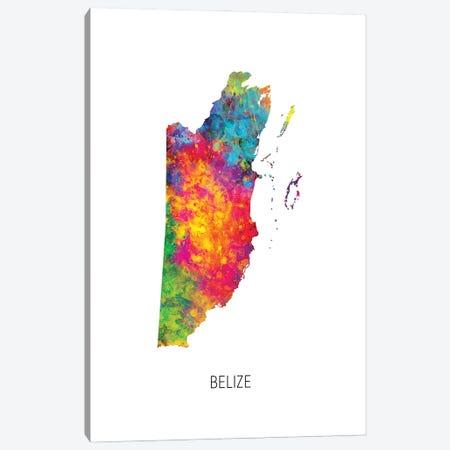 Belize Map Canvas Print #MTO2886} by Michael Tompsett Canvas Print