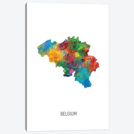Belgium Map Canvas Print #MTO2887} by Michael Tompsett Canvas Print