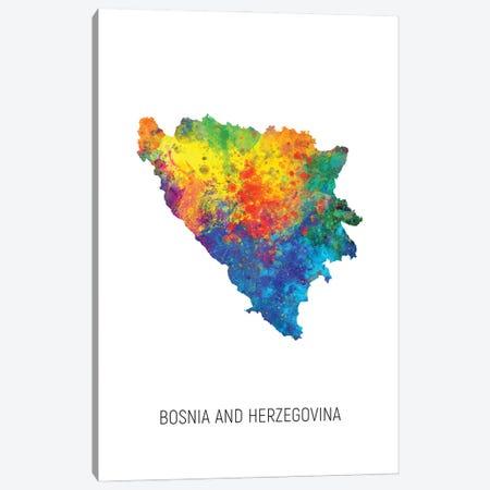 Bosnia and Herzegovina Map Canvas Print #MTO2891} by Michael Tompsett Art Print