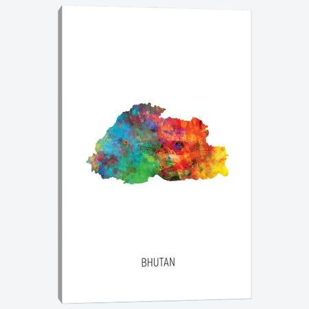 Bhutan Map Canvas Print #MTO2893} by Michael Tompsett Canvas Print