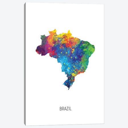 Brazil Map Canvas Print #MTO2899} by Michael Tompsett Canvas Print