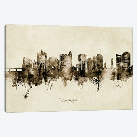 Sarasota Florida Skyline Vintage Canvas Print #MTO2902} by Michael Tompsett Canvas Art Print