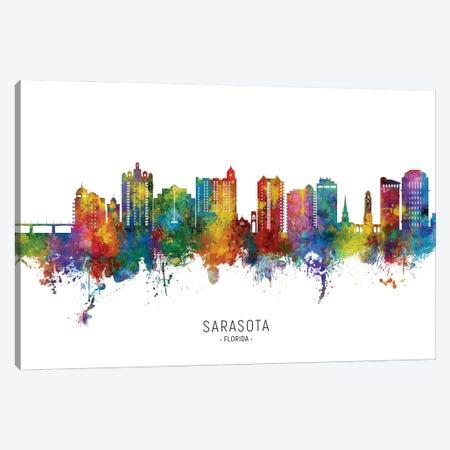 Sarasota Florida Skyline City Name Canvas Print #MTO2904} by Michael Tompsett Canvas Art