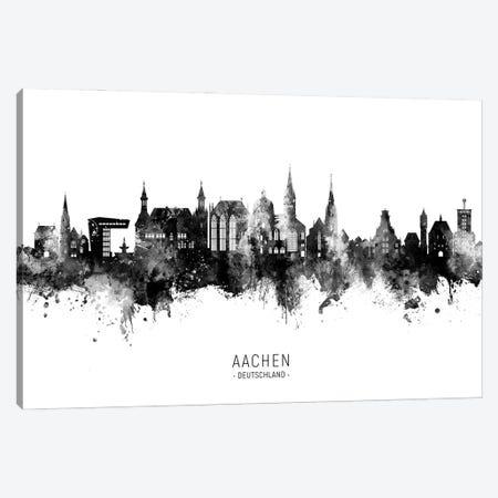Aachen Germany Skyline Name Bw Canvas Print #MTO2908} by Michael Tompsett Canvas Art Print