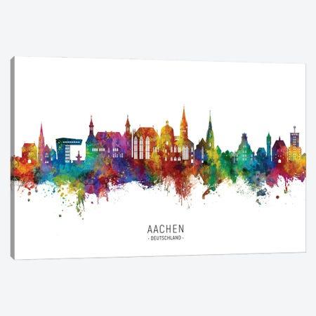 Aachen Germany Skyline City Name Canvas Print #MTO2909} by Michael Tompsett Art Print