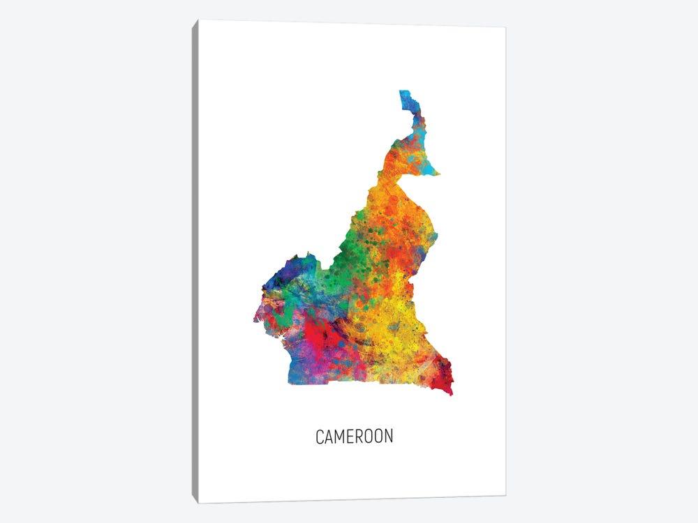 Cameroon Map by Michael Tompsett 1-piece Canvas Art Print
