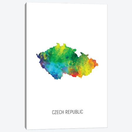 Czech Republic Map Canvas Print #MTO2929} by Michael Tompsett Canvas Print