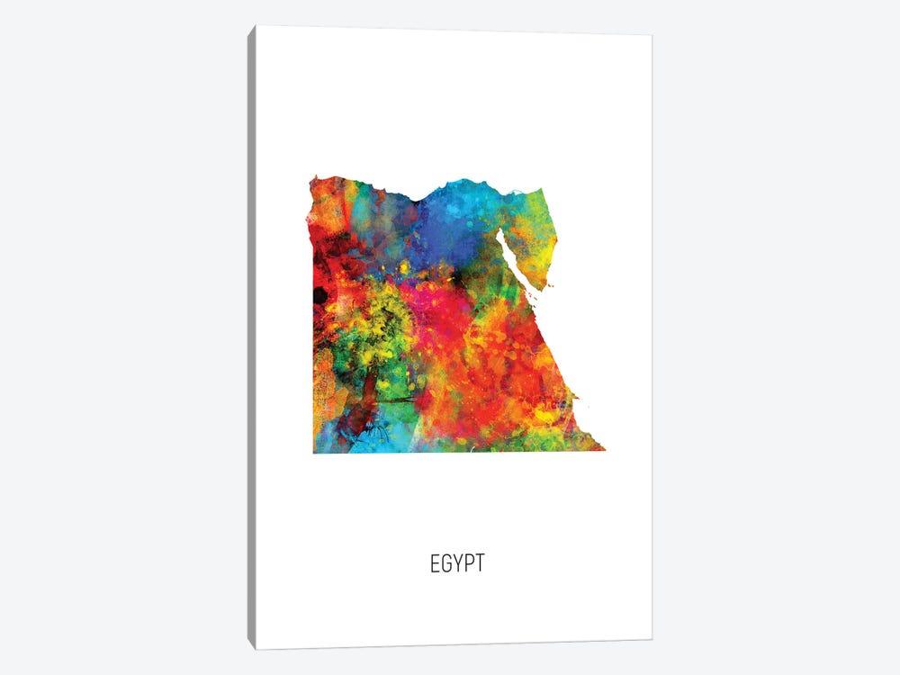 Egypt Map by Michael Tompsett 1-piece Canvas Art