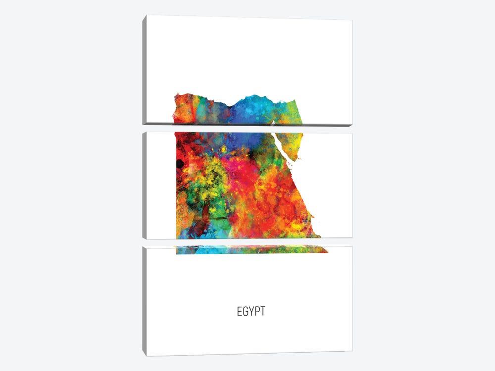 Egypt Map by Michael Tompsett 3-piece Canvas Art