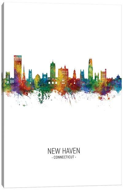 New Haven Connecticut Skyline Portrait Canvas Art Print