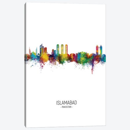 Islamabad Pakistan Skyline Portrait Canvas Print #MTO2955} by Michael Tompsett Canvas Print