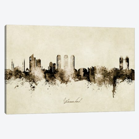 Islamabad Pakistan Skyline Vintage Canvas Print #MTO2956} by Michael Tompsett Canvas Print