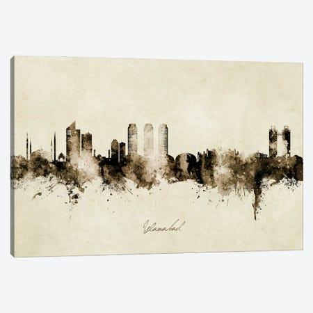 Islamabad Pakistan Skyline Vintage Canvas Print #MTO2956} by Michael Tompsett Canvas Print