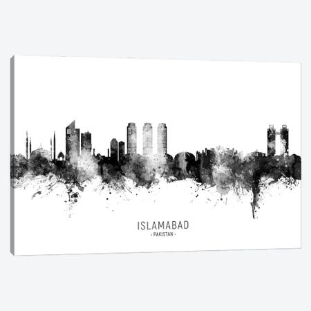 Islamabad Pakistan Skyline Name Bw Canvas Print #MTO2957} by Michael Tompsett Canvas Art Print