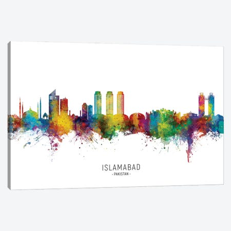 Islamabad Pakistan Skyline City Name Canvas Print #MTO2958} by Michael Tompsett Canvas Artwork