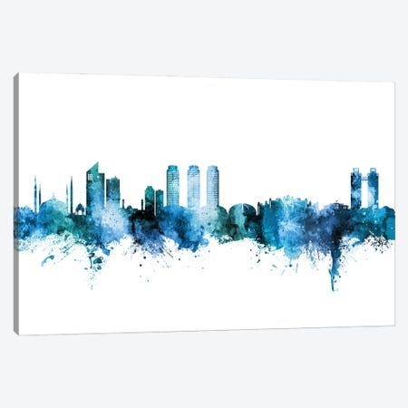 Islamabad Pakistan Skyline Blue Teal Canvas Print #MTO2959} by Michael Tompsett Canvas Artwork