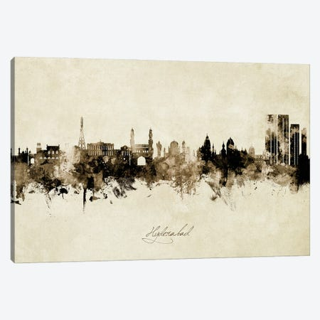 Hyderabad India Skyline Vintage Canvas Print #MTO2961} by Michael Tompsett Canvas Print