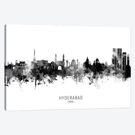 Hyderabad India Skyline Name Bw Canvas Print #MTO2962} by Michael Tompsett Art Print